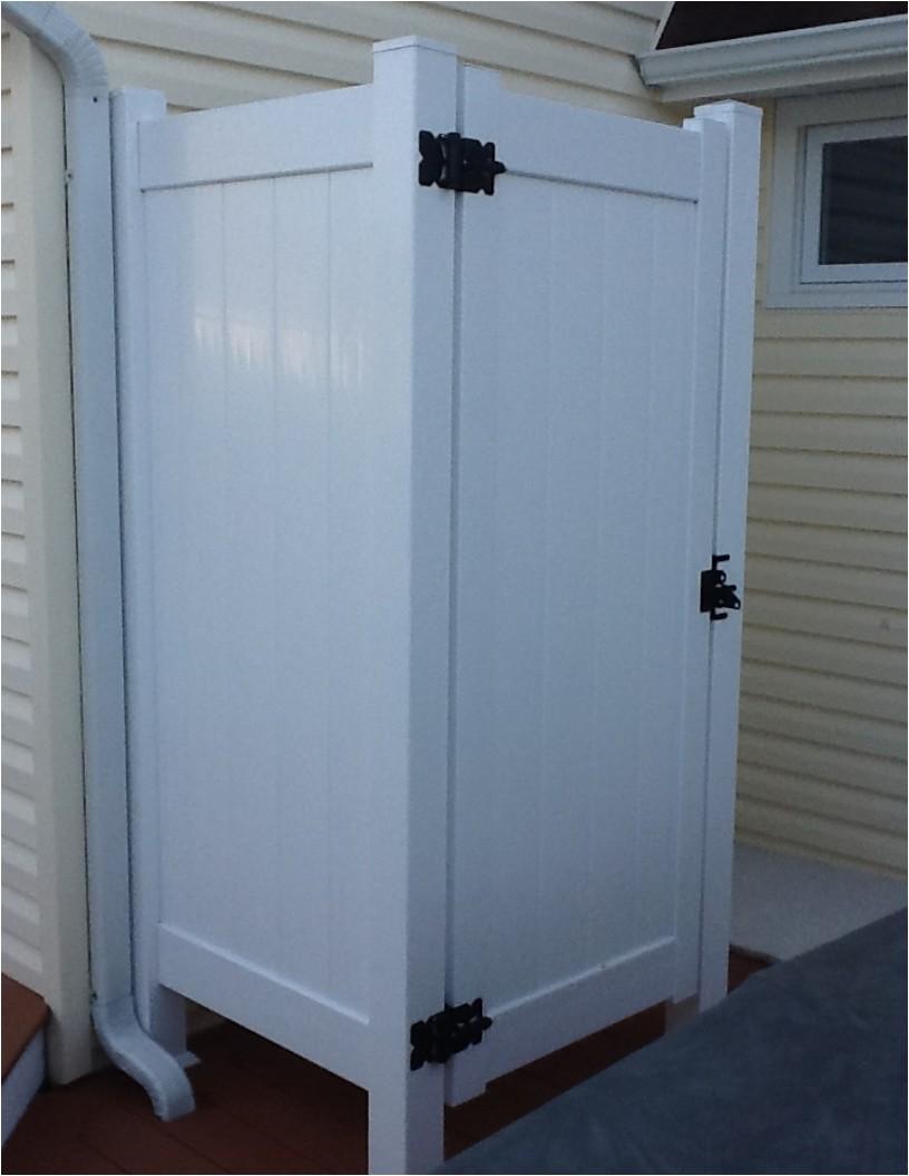 vinyl outdoor shower enclosure kits