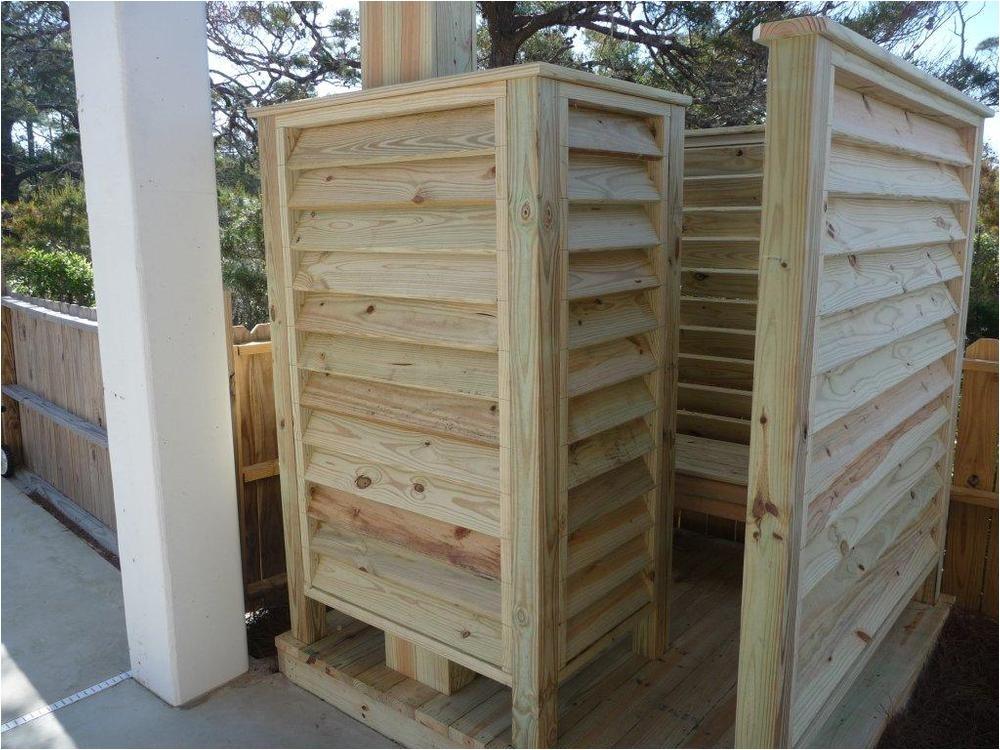 Outdoor Shower Enclosure Kit Wood Convert An Outdoor Shower Enclosure On A Deck