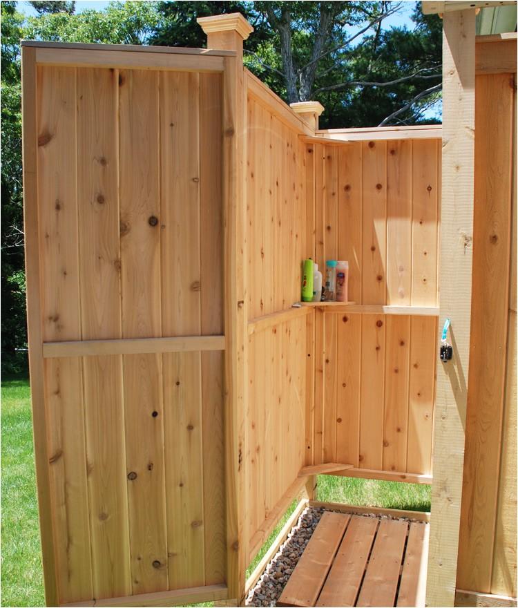 outdoor shower enclosure cedar hm