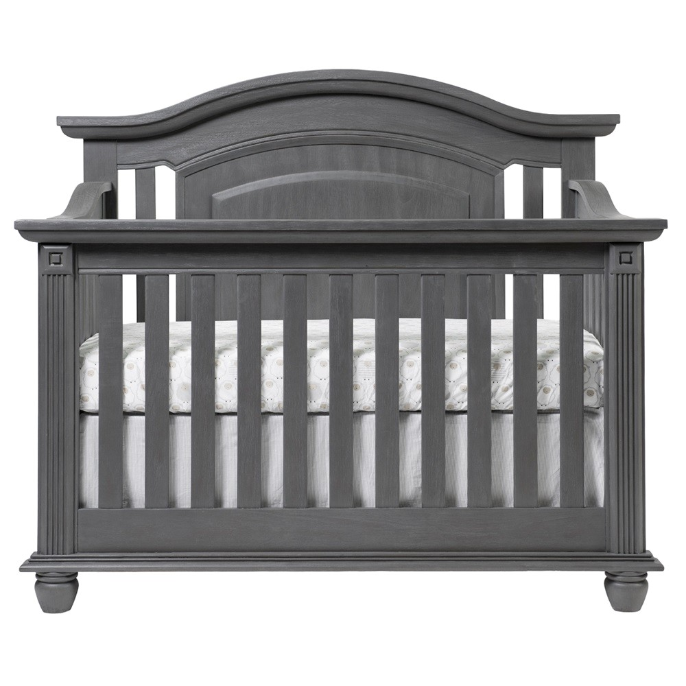 Oxford Baby London Lane Crib 4 In 1 Convertible Crib London Lane Arctic Gray Oxford