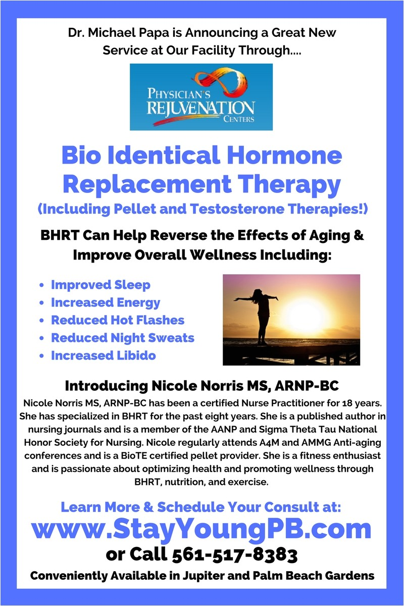 your family chiropractors in port st lucie palm beach gardens and jupiter on our three practitioner team can administer bioidentical hormone replacement
