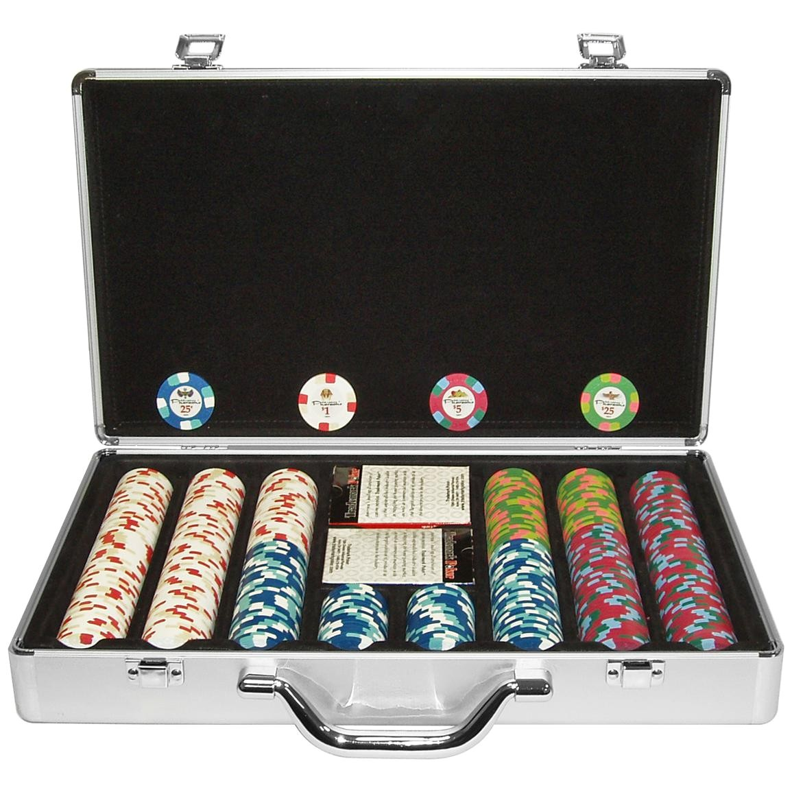 trademark games 400 pc paulson pharaoh club clay poker chip set with aluminum case a 362346