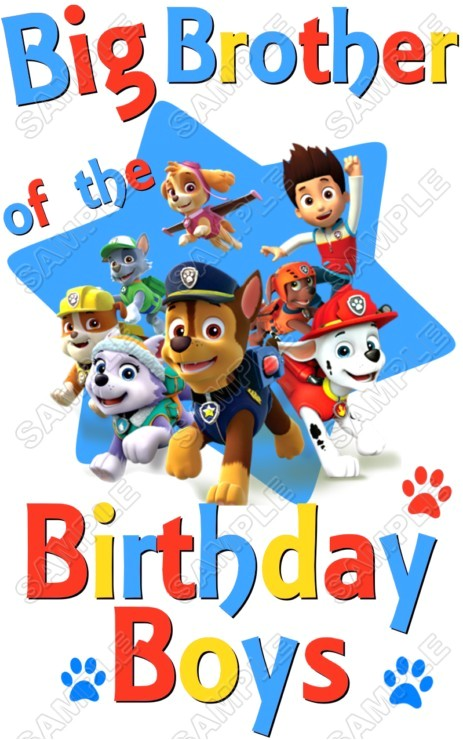Paw Patrol Birthday Iron On Transfers Custom Personalized T Shirt