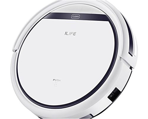 ilife v3s pro robotic vacuum newer version of v3s pet hair care powerful suction tangle free slim design auto charge daily planning good for hard floor and low pile carpet