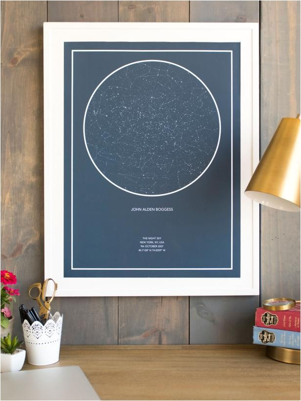 Personalized Night Sky Poster 3 Ways to Make Mom 39 S Day Hgtv Personal Shopper Hgtv