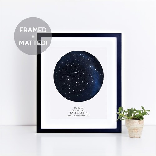 constellation map poster