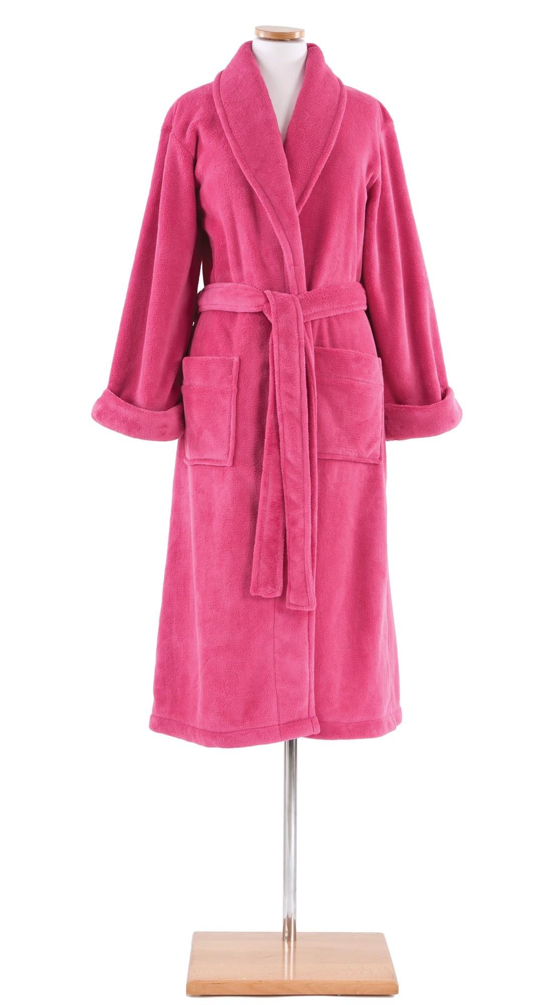 pine cone hill sheepy fleece robe in fuschia arsffs