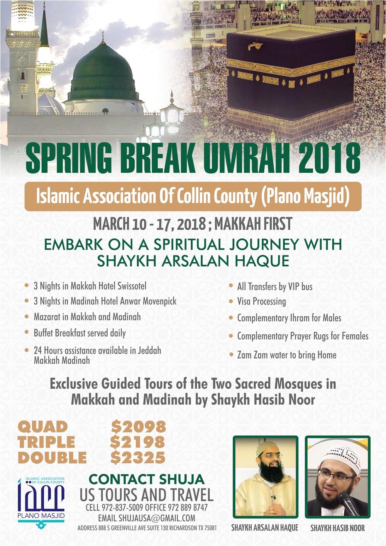 spring break umrah 2018