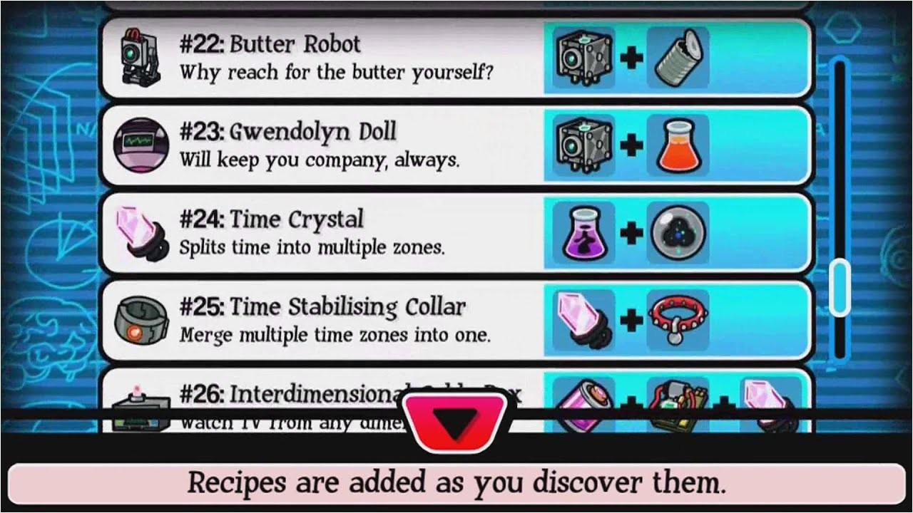pocket morty all crafting recipes