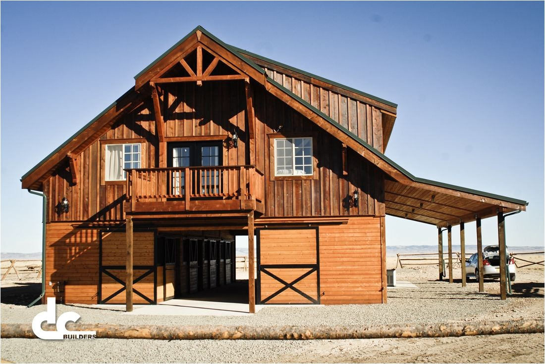barn with living quarters in laramie wyoming dc building