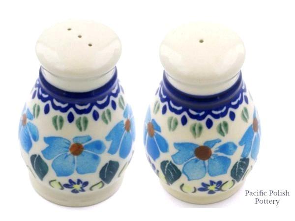 Polish Pottery Salt and Pepper Grinders Polish Pottery Salt and Pepper Shakers Polish Pottery Salt