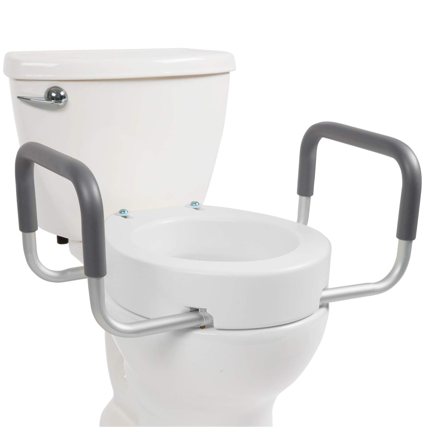 vive toilet seat riser with handles raised toilet seat with padded arms for handicapped
