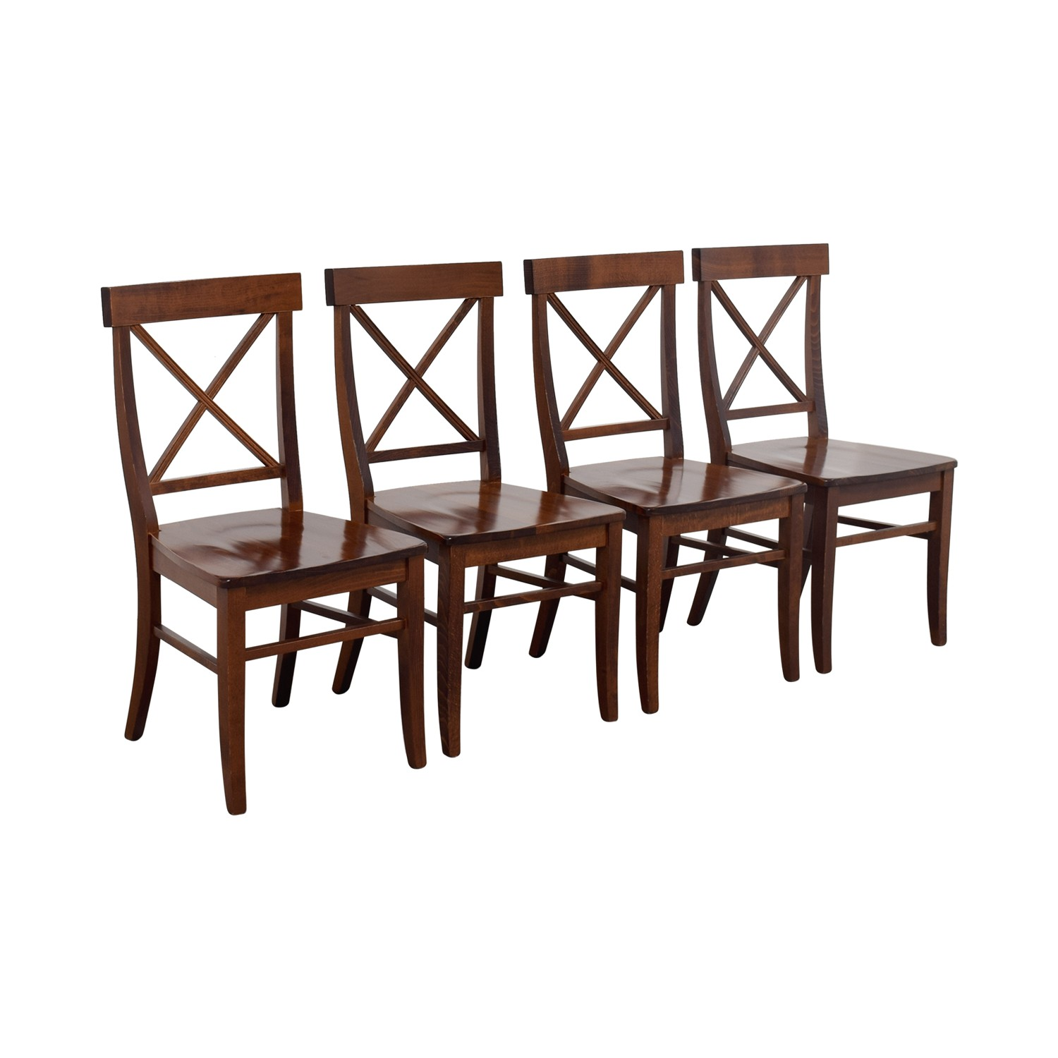 pottery barn pottery barn aaron wood dining chairs