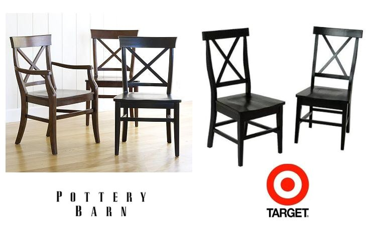 pottery barn aaron chair and target american simplicity x back side chair