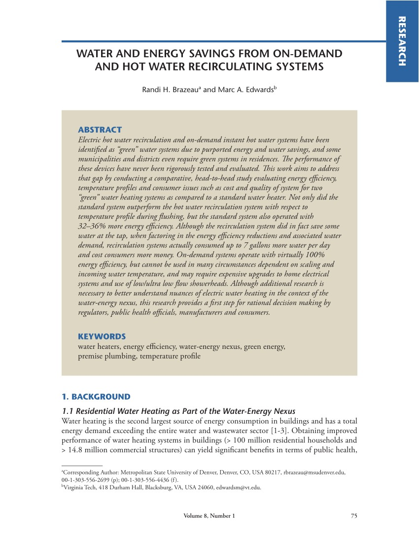 Pros and Cons Of Hot Water Recirculating Pump Pdf A Review Of the Sustainability Of Residential Hot Water