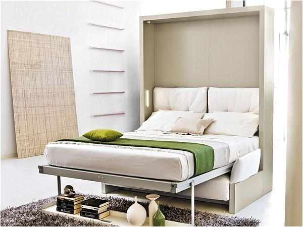 storage wall with pull down double bed 2