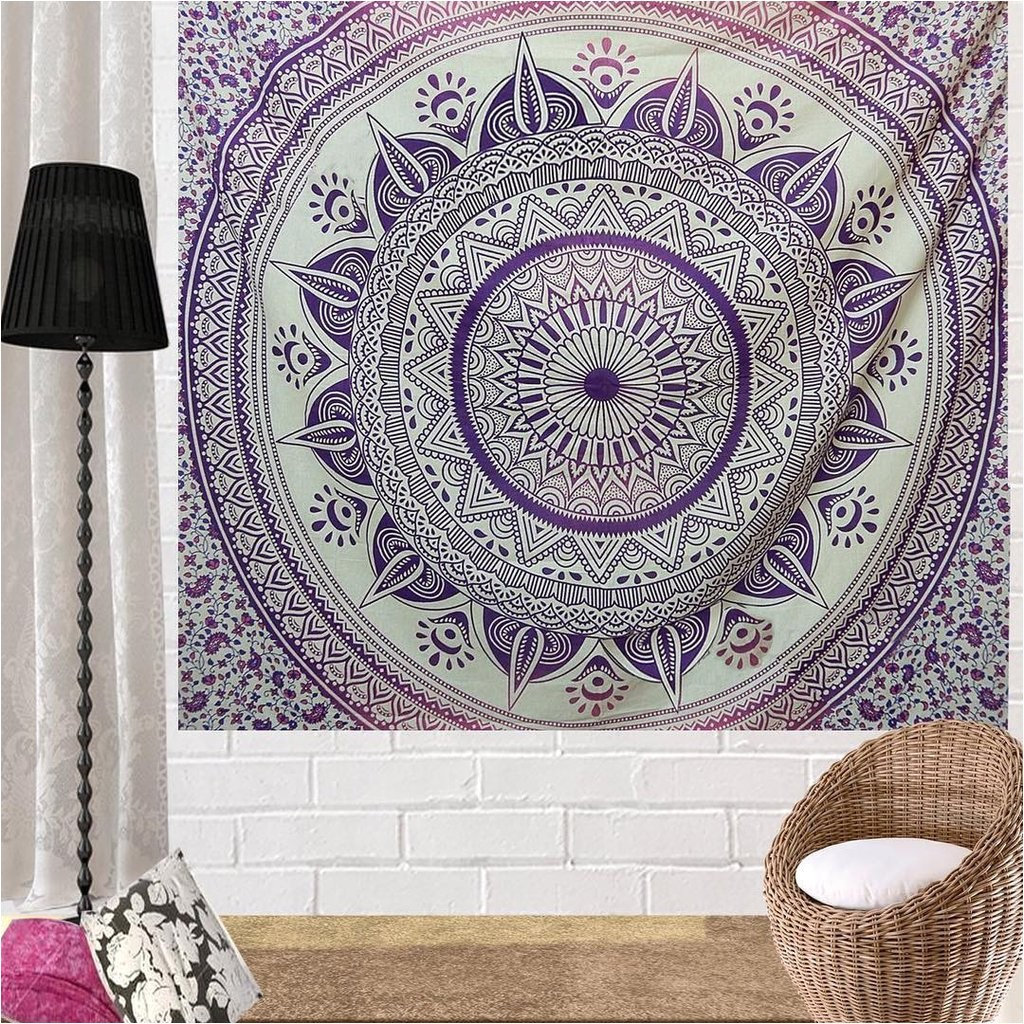 pink hippie tapestries mandala tapestries large beach throw