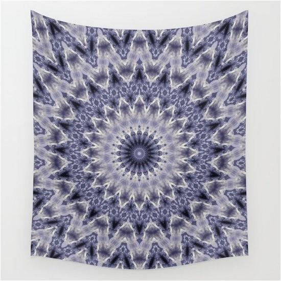 purple gray mandala mandala kaleidoscope ornament round purple grey lilac ethnic tapestry