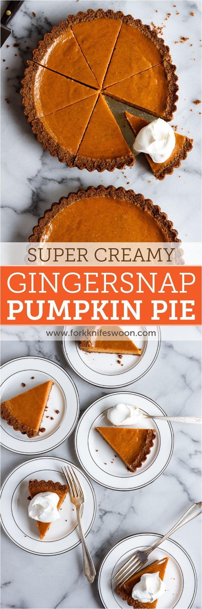 gingersnap pumpkin pie my very favorite smooth and creamy pumpkin pie recipe with a gingersnap