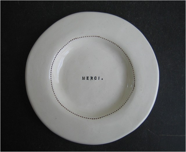 Rae Dunn Ll Dinner Plates Wide Rim Wafer Plate Merci by Rae Dunn Modern Dinner