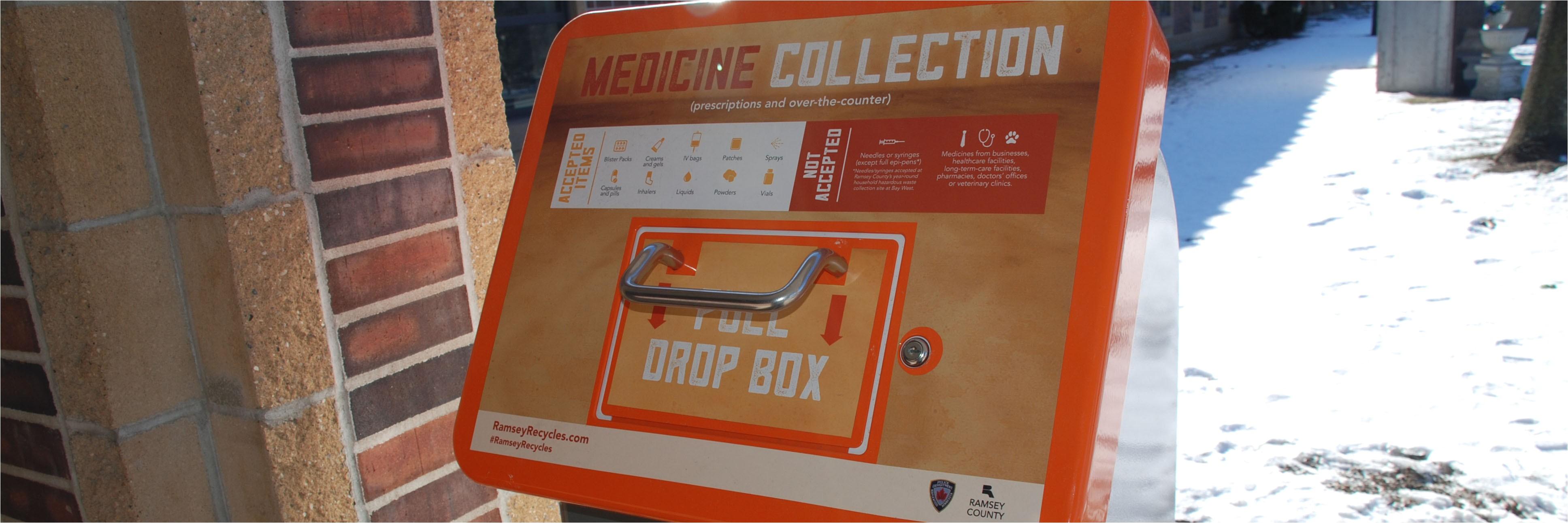 medicine collection drop box