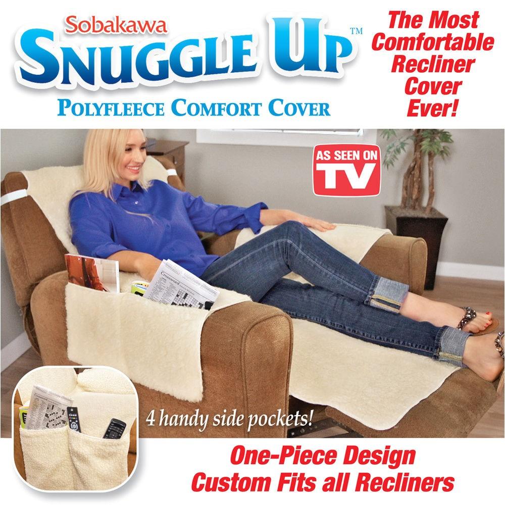 Recliner Covers as Seen On Tv sobakawa Snuggle Up Recliner Slip Fleece Comfort Chair