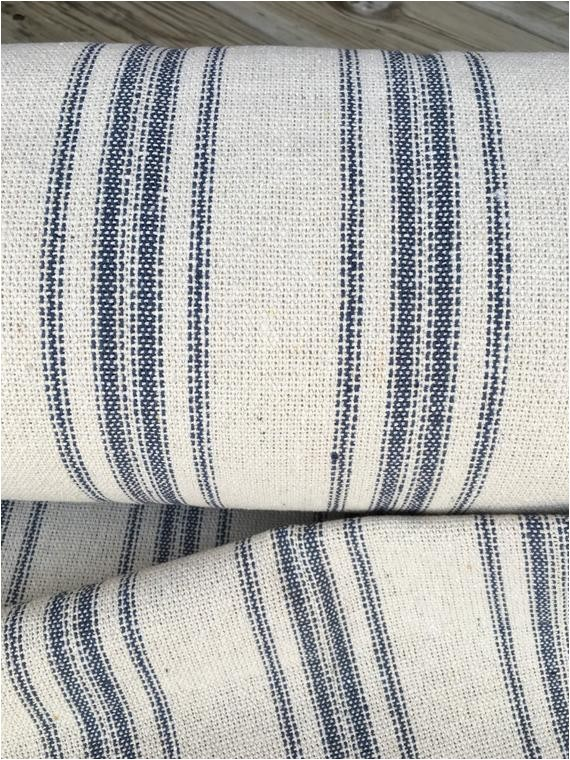 grain sack fabric sold by the yard blue