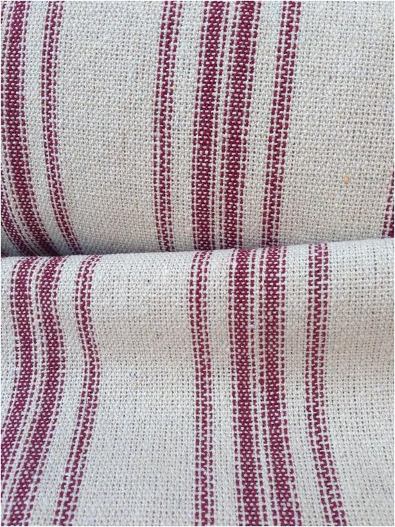 grain sack fabric sold by the yard red