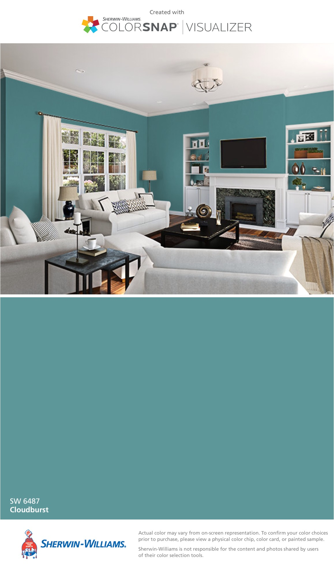 i found this color with colorsnapa visualizer for iphone by sherwin williams cloudburst sw 6487