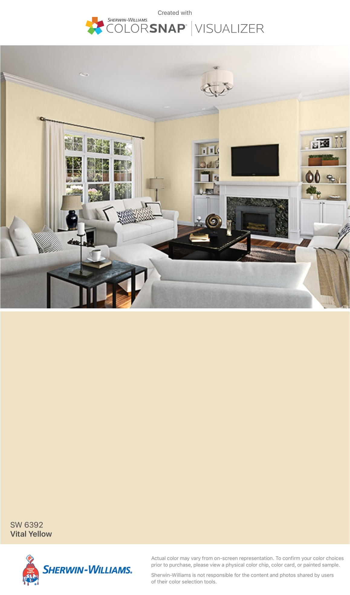 i found this color with colorsnapa visualizer for iphone by sherwin williams vital yellow sw 6392
