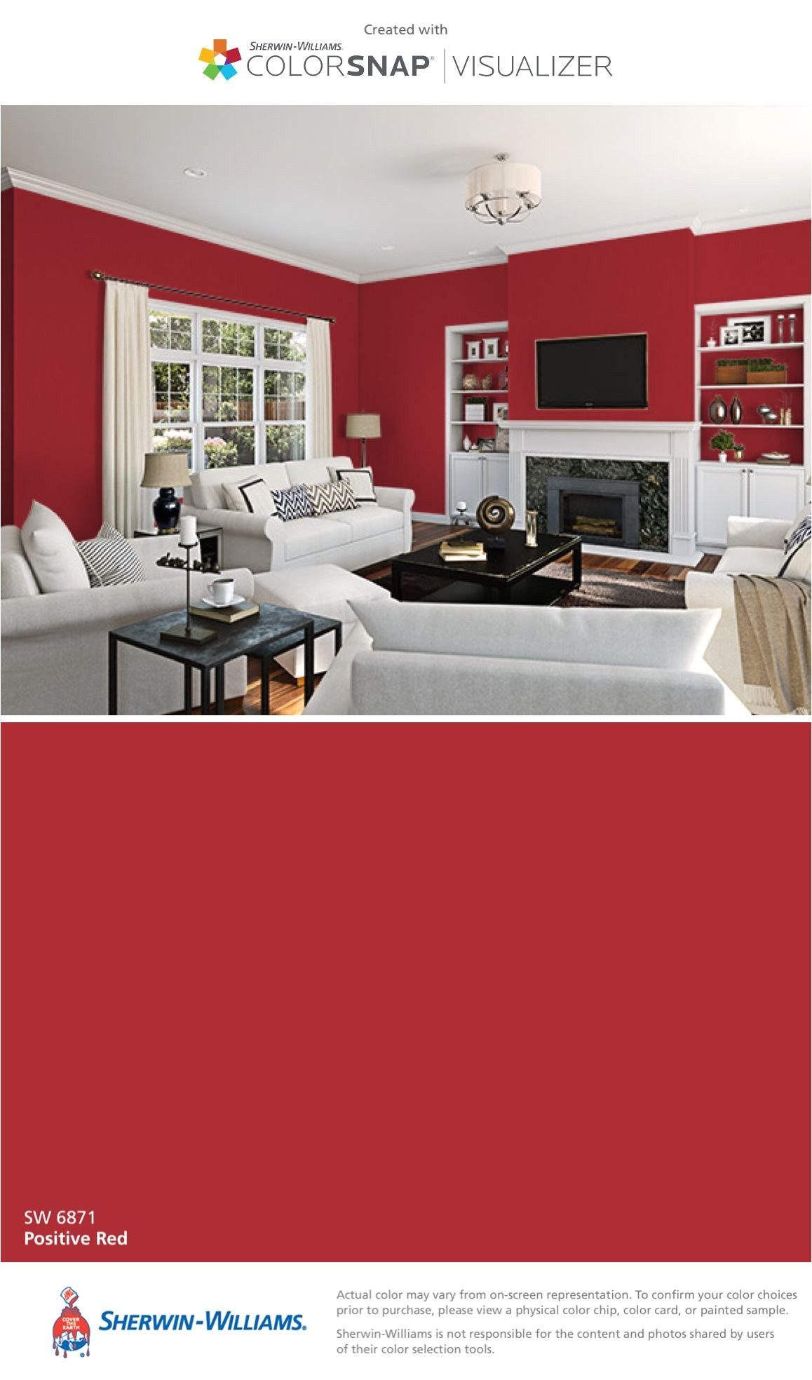i found this color with colorsnapa visualizer for iphone by sherwin williams positive red sw 6871