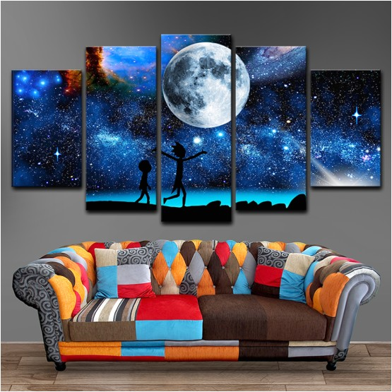 rick morty 5 piece canvas 2