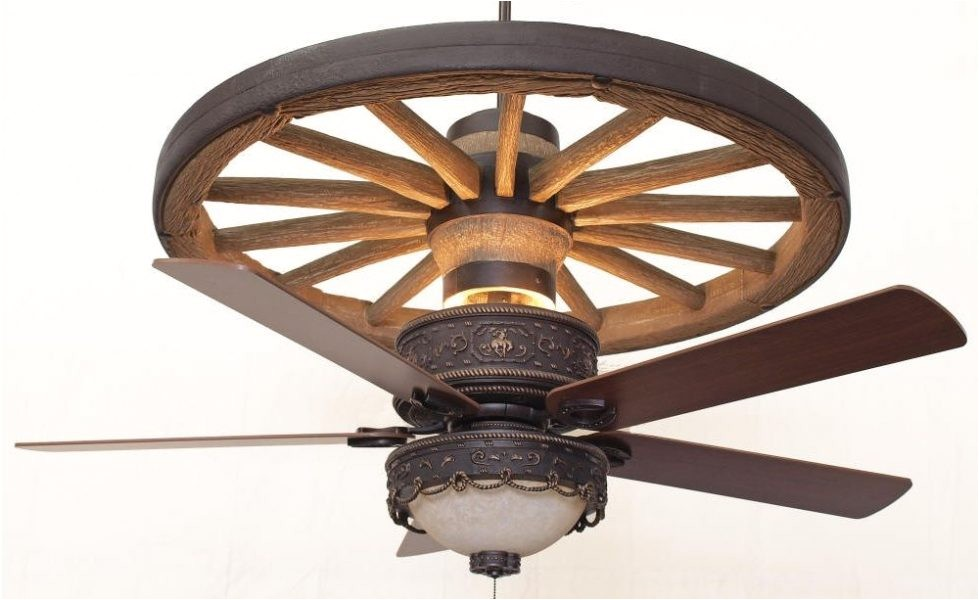 Rustic Wagon Wheel Ceiling Fan Copper Canyon Cheyenne Wagon Wheel Ceiling Fan