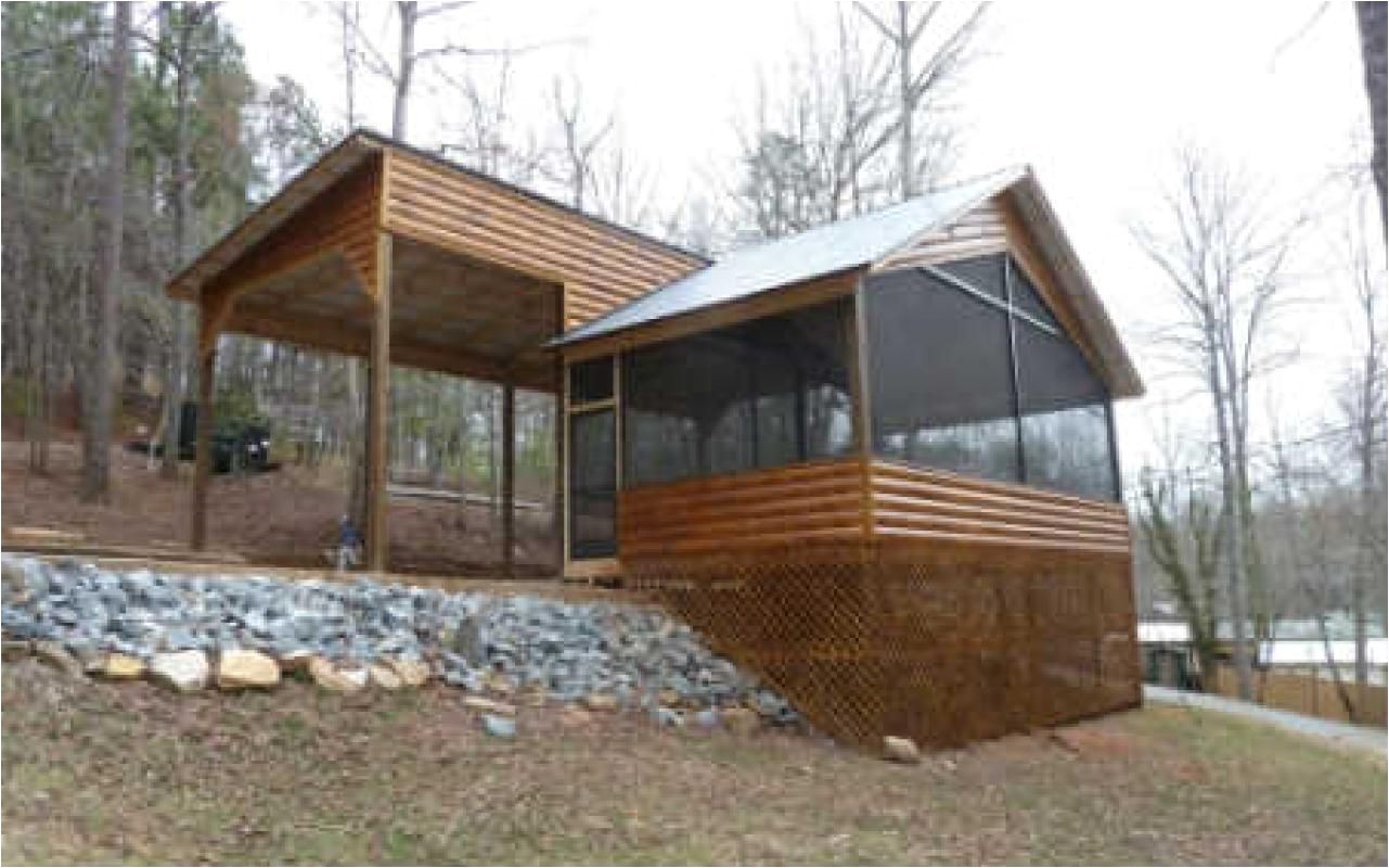 rv cabin retreat this rv home lot is situated above the coosawattee river and boasts an amazing stained d log screened porch with spectacular views and