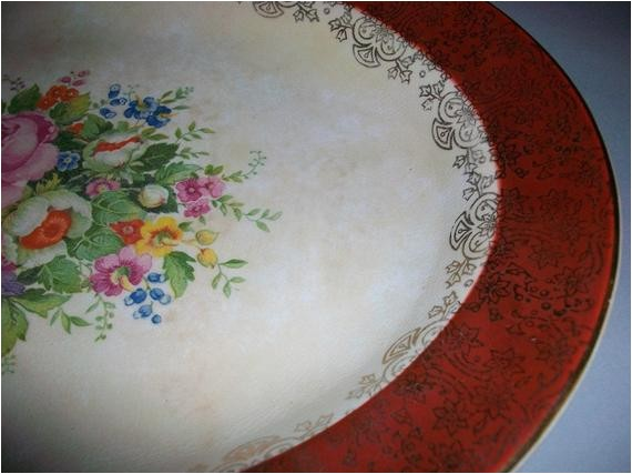 salem china co saucer and serving plate
