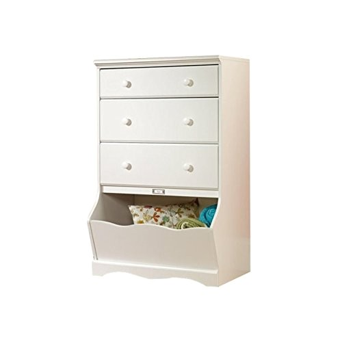 sauder pogo 3 drawer chest soft white finish