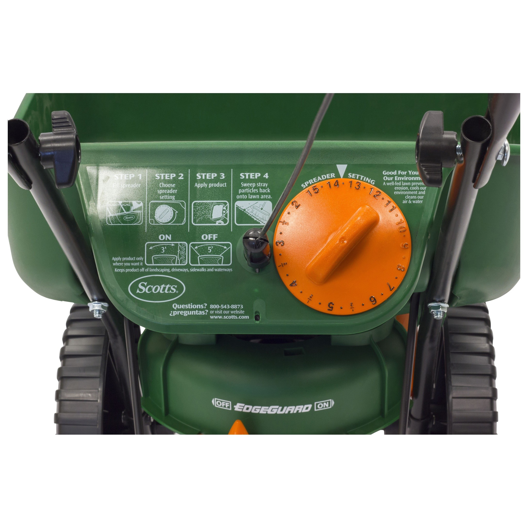 scotts turf builder edgeguard mini broadcast spreader p 4026