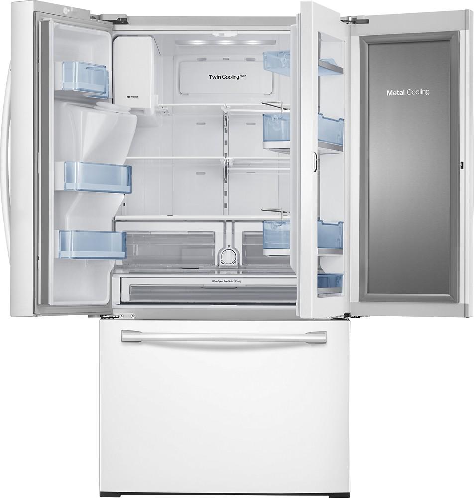 ft french door refrigerator with food showcase door and thru the door ice and water white rf28hdedpww best buy