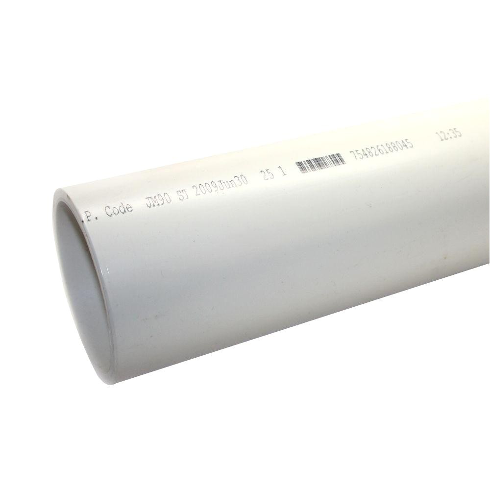 pvc sch 40 dwv plain end pipe