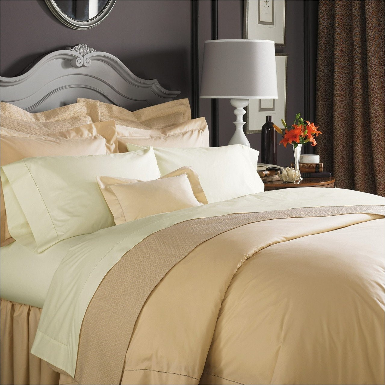 amazon com celeste linens by sferra king flat sheet ivory home kitchen