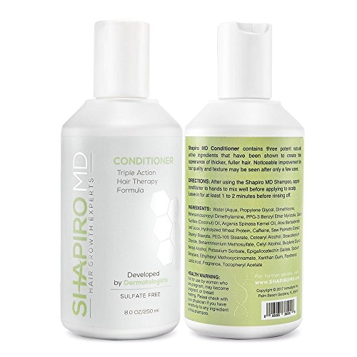 43878588 shapiro md shampoo and conditioner containing the 3 most powerful all natural dht blockers for thicker fuller and healthier hair 1 month supply