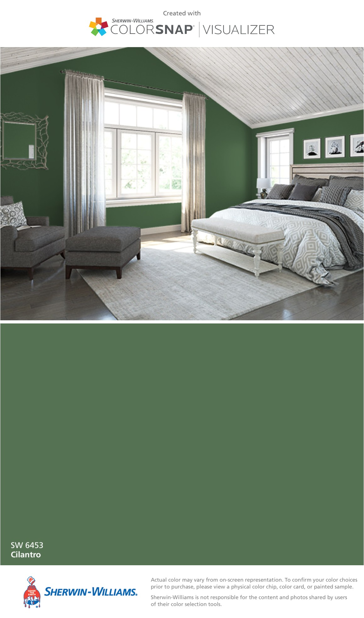 i found this color with colorsnapa visualizer for iphone by sherwin williams cilantro sw 6453