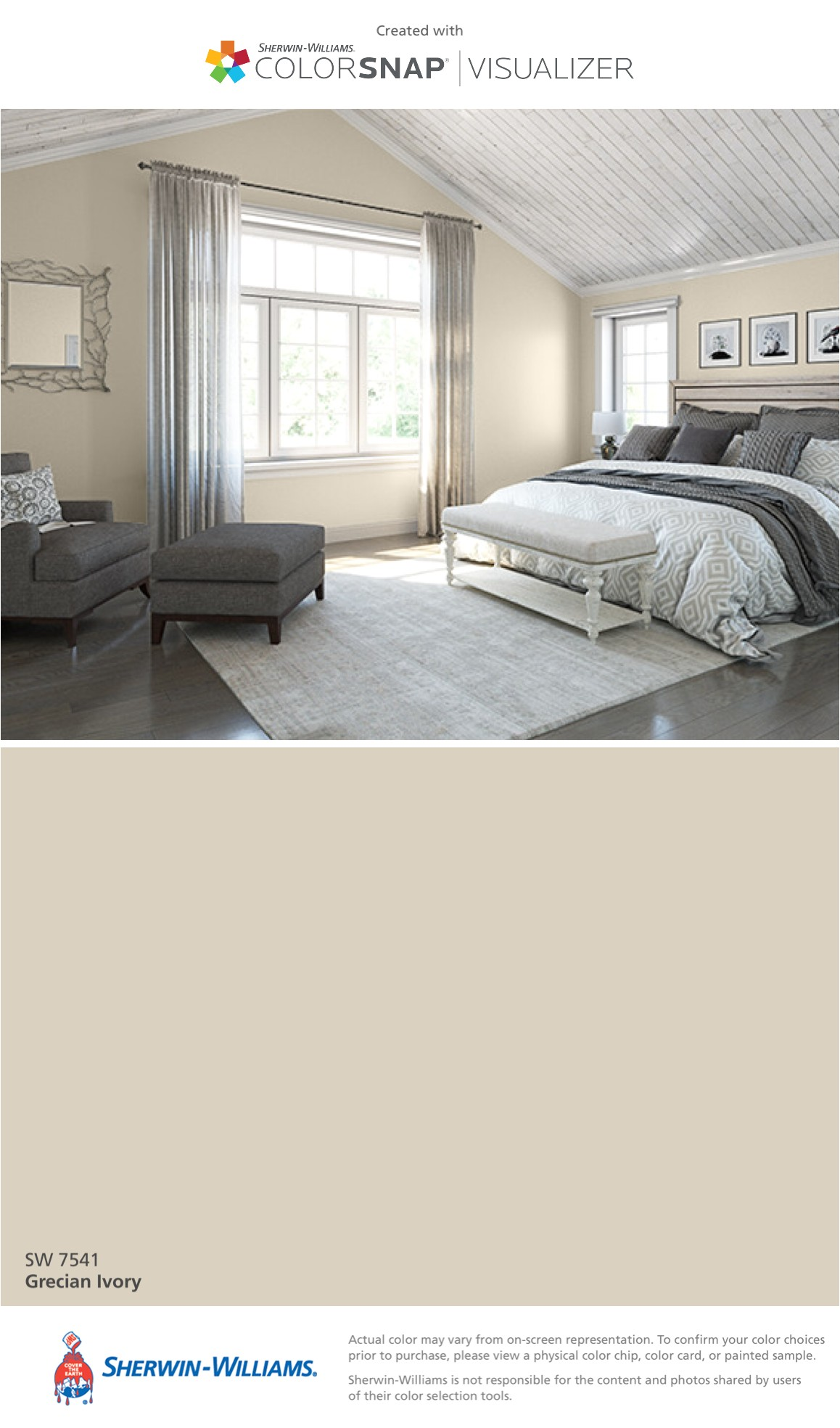 i found this color with colorsnapa visualizer for iphone by sherwin williams grecian ivory sw 7541