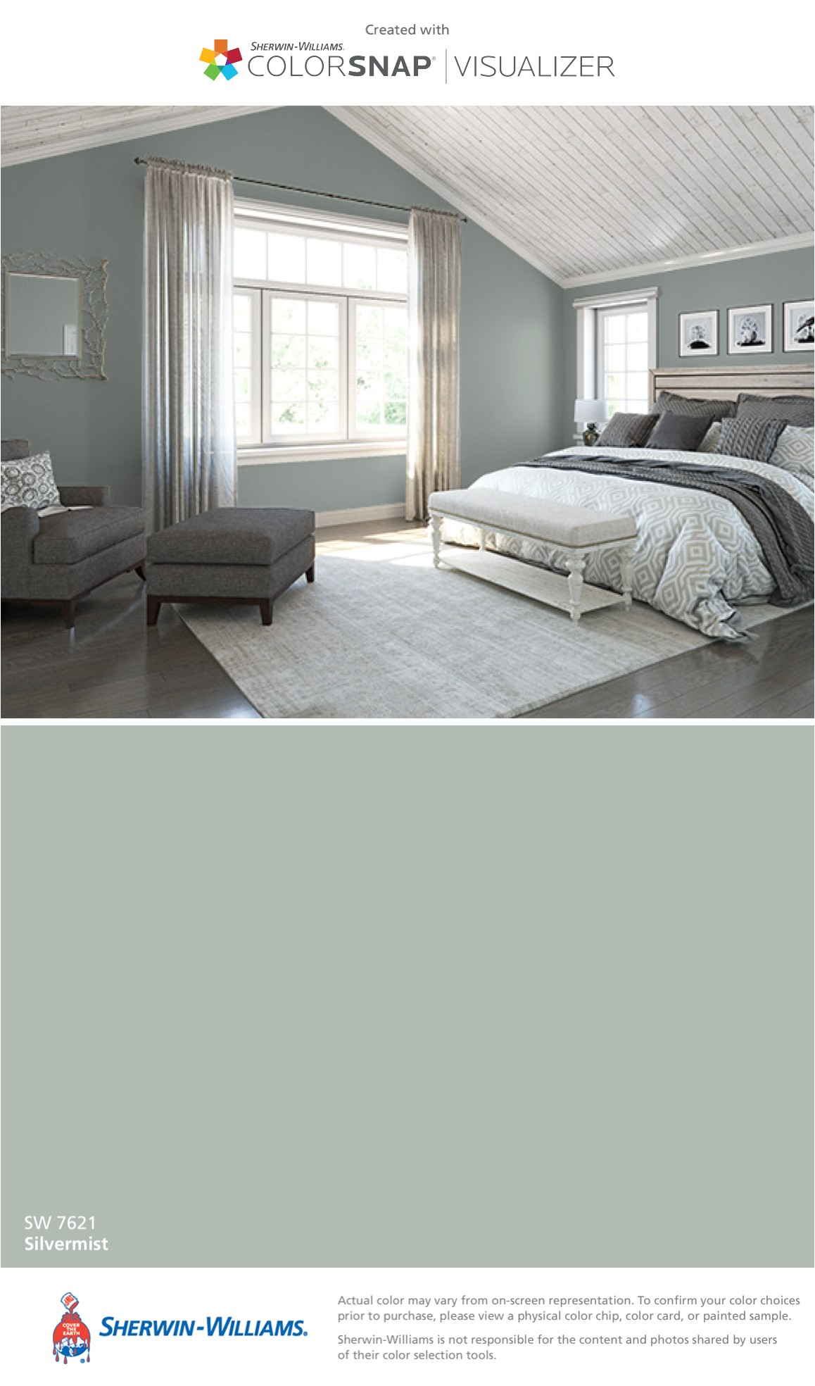 i found this color with colorsnapa visualizer for iphone by sherwin williams silvermist sw 7621