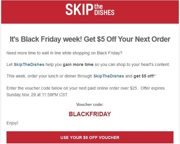Skip the Dishes Coupon Code Skip the Dishes