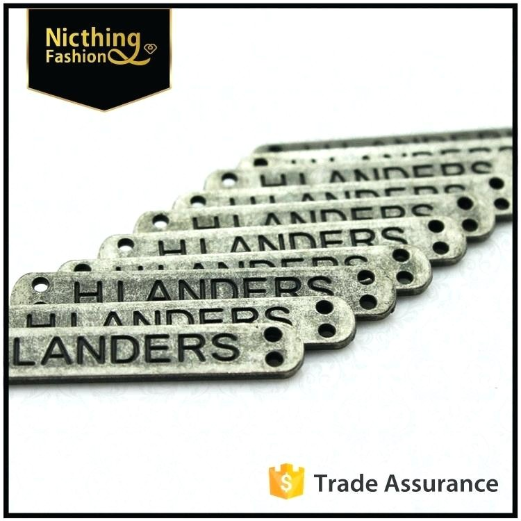 small metal letters logo nameplate custom for bags quality logos hobby lobby