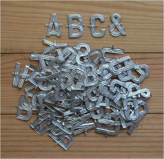 vintage metal letters small florist