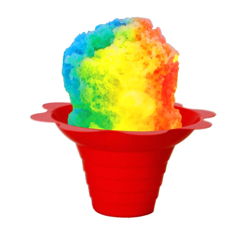Snow Cone Flower Cups Shaved Ice Sno Cone Flower Cups 4 Ounce Small Case