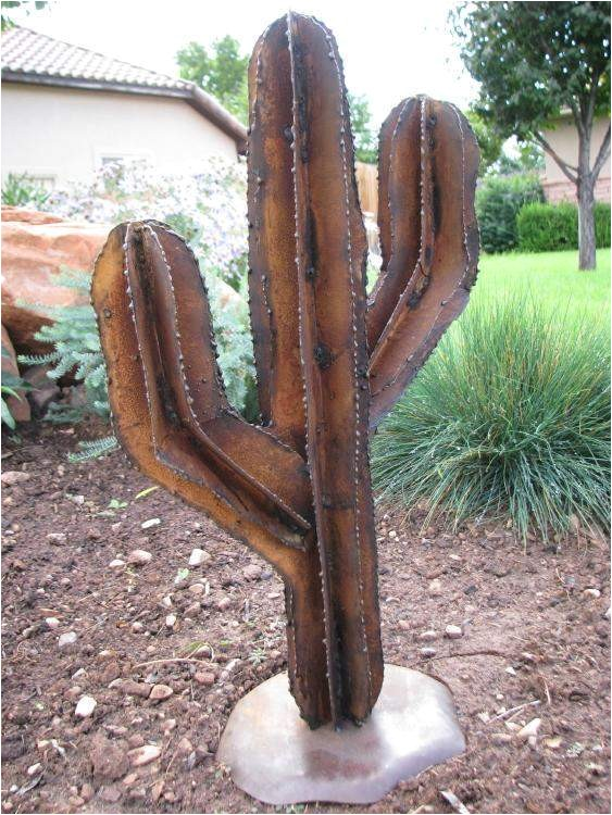 Southwest Metal Yard Art Saguaro Cactus Yard Art Medium Lema 39 S Kokopelli Gallery