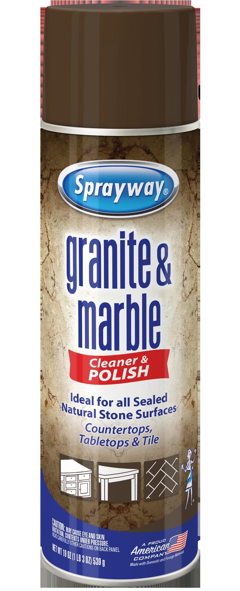 sprayway granite marble cleaner aerosol spray